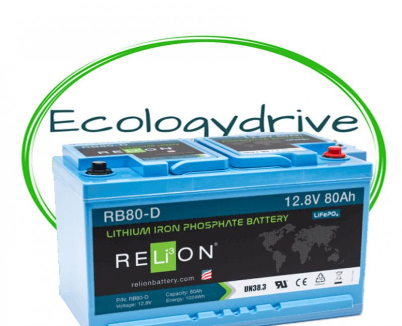 Batteria Litio Relion RB80 D